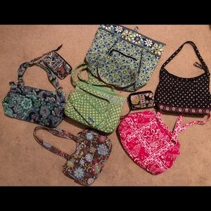 BUNDLE Of 6 Vera Bradley Purses and 3 Wallets!